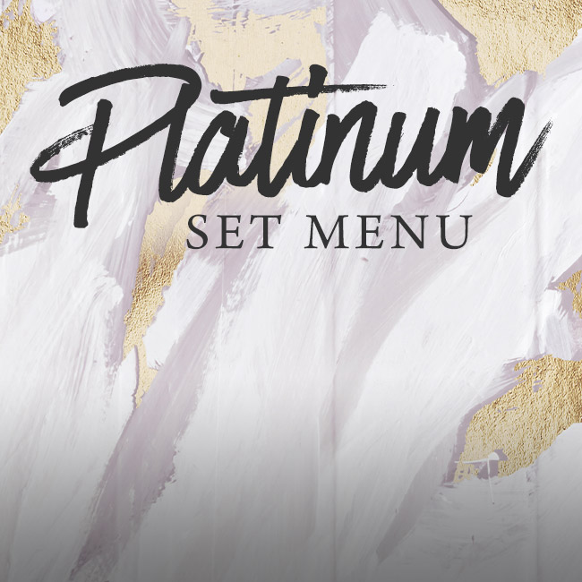 Platinum set menu at The Whittington Arms